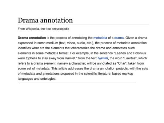 Drama Annotation